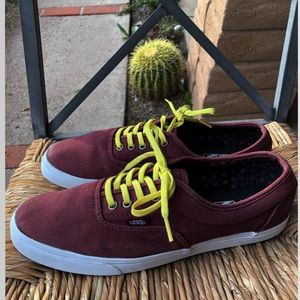 Vans Low Top Maroon (Gold/Yellow)
